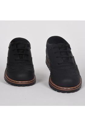 Volter Mini Bağcıklı Klasik Günlük Siyah Çocuk Ayakkabı