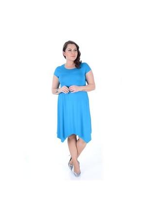 Tepa Mavi Verevli Elbise