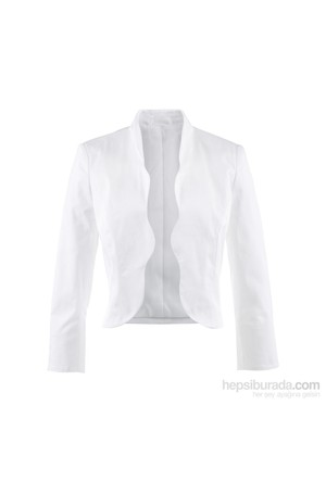 bonprix Beyaz Bolero Ceket 34-54 Beden