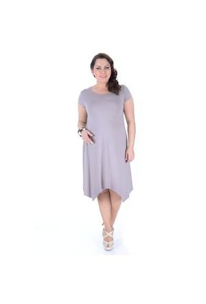 Tepa Vizon Verevli Elbise