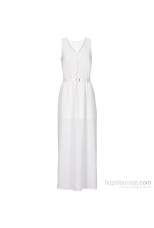 bonprix Beyaz Maxi Elbise 34-54 Beden