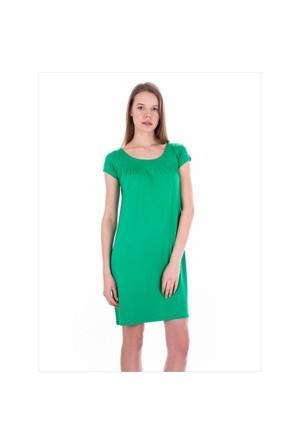 Ayyıldız 59333 Yeşil Penye Elbise Nil Yeşili