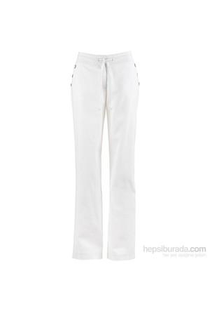 bonprix Beyaz Geniş Kesim Keten Pantolon 34-54 Beden