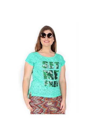 Tepa Yeşil Pullu T-Shirt 01000112-73