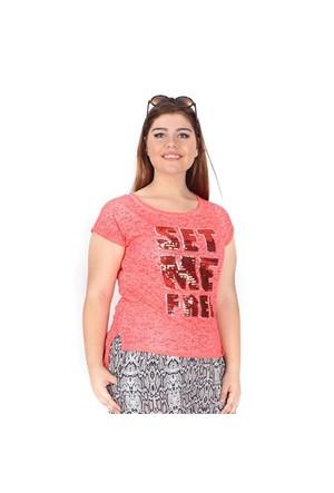 Tepa Nar Çiçeği Pullu T-Shirt 01000112-74