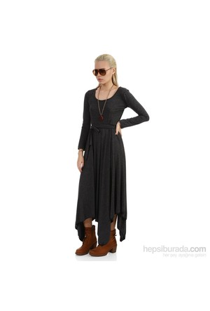 Demoda Füme Asimetrik Elbise