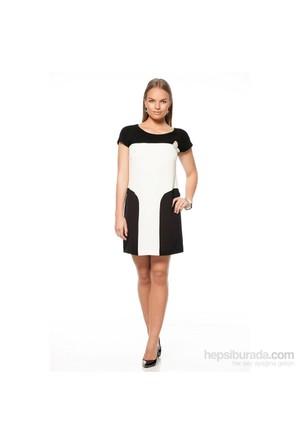 Jus De Pommes Kadın Elbise Beyaz-Siyah