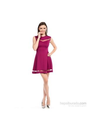 İroni 5948-966 Kadın Elbise Mor