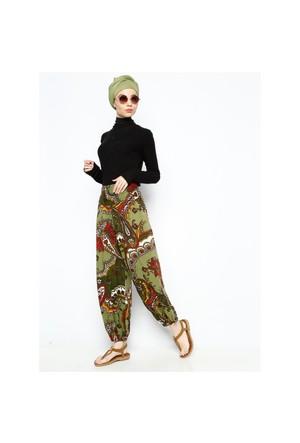 Desenli Şalvar Pantolon - Yeşil - Los Banditos