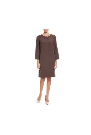 Naramaxx 581 Kahve Kadın Elbise