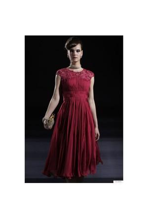 Nelida Farklı Tasarım Şifon Elbise