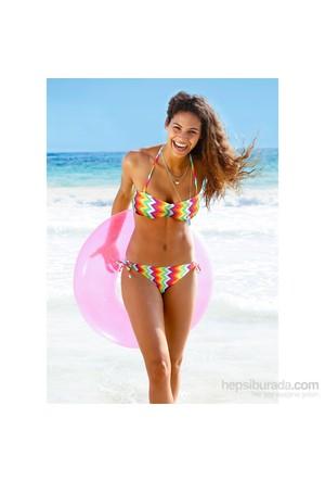 """Rainbow Koyu Pembe Straplez Bikini (2""""Li Takım)"""
