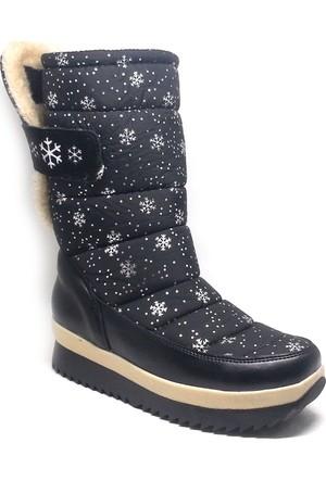 Shop And Shoes Kadın Kar Botu Siyah 155-230D
