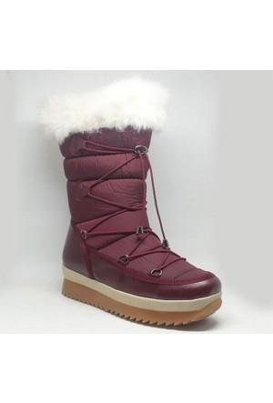 Shop And Shoes Kadın Kar Botu Bordo 155-246