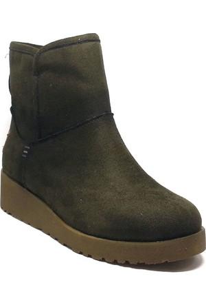 Shop And Shoes Kadın Bot Yeşil Süet 190-200