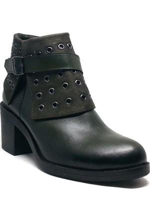 Shop And Shoes Kadın Bot Yeşil 190-407