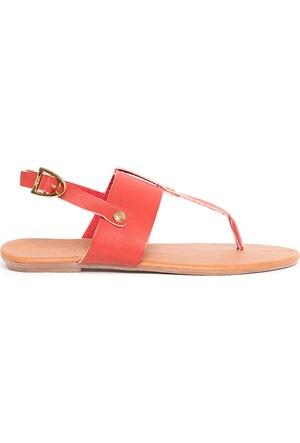 U.S. Polo Assn. Kadın Y6Selena Sandalet Kırmızı