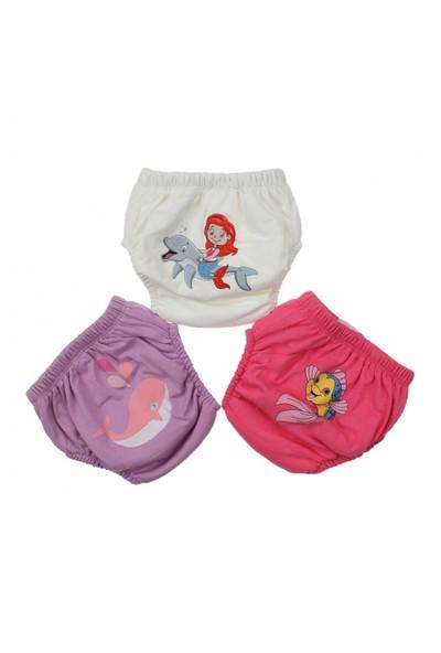 Modakids Kız Bebek Sevimli 3'Lü Alıştırma Külodu 035-60155-035