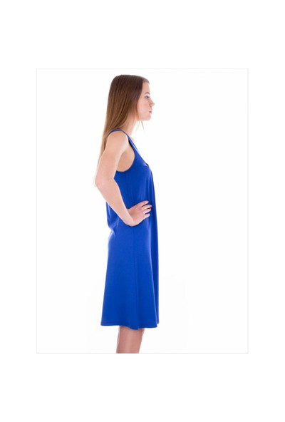 Ayyıldız 59431 Saks Penye Elbise