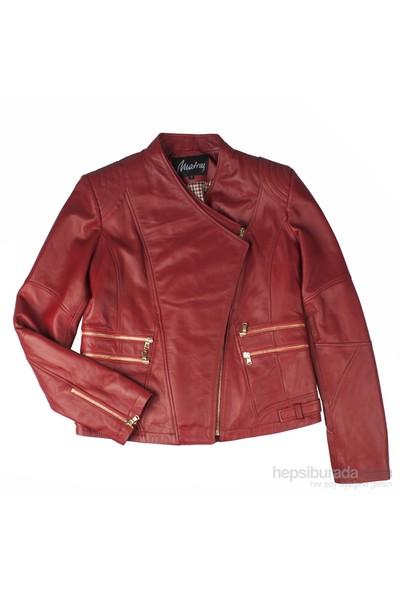 Matraş Kadın Ceket Kırmızı