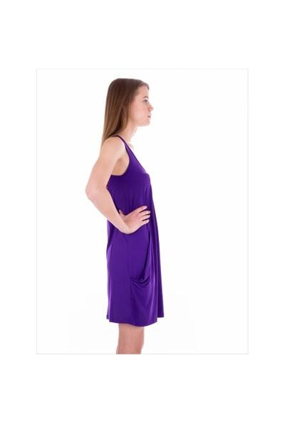 Ayyıldız 59430 Mor Askılı Elbise