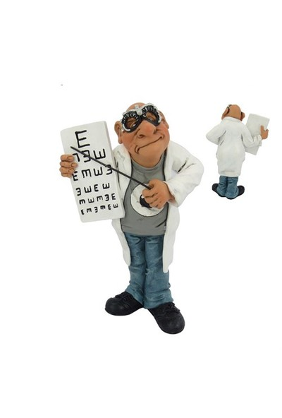 Göz Doktoru Figürlü Biblo