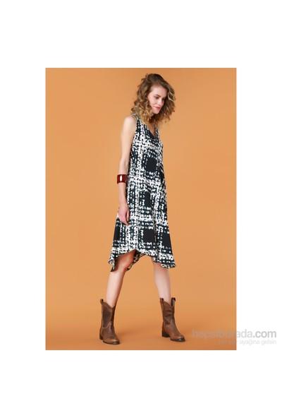 Demoda Batik Parçalı Elbise Eb2347