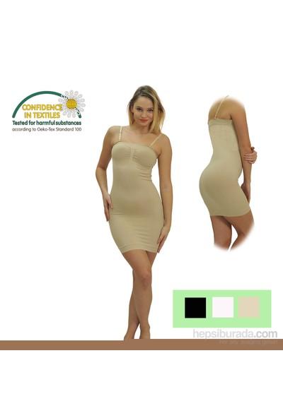 Emzik Form Strablez Toparlayıcı Elbise