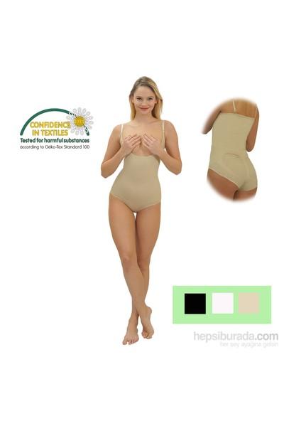 Emzik Form Göğüs Altı Çıtçıtlı Body Korse