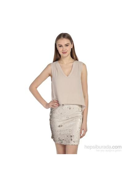 Karahasans Bej Payetli Elbise