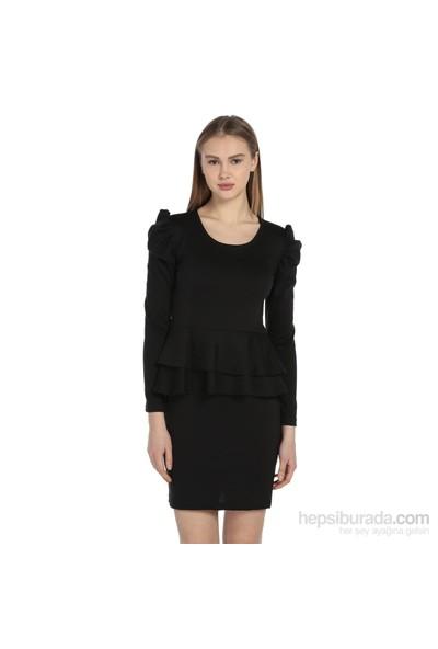 Karahasans Omuz Detaylı Siyah Elbise