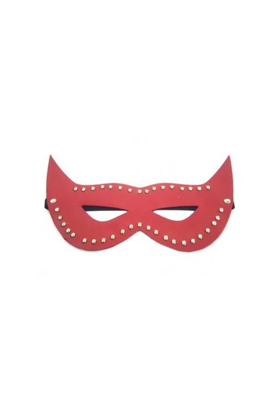 Boxeskırmızı Parlak Deri Fantezi Maske