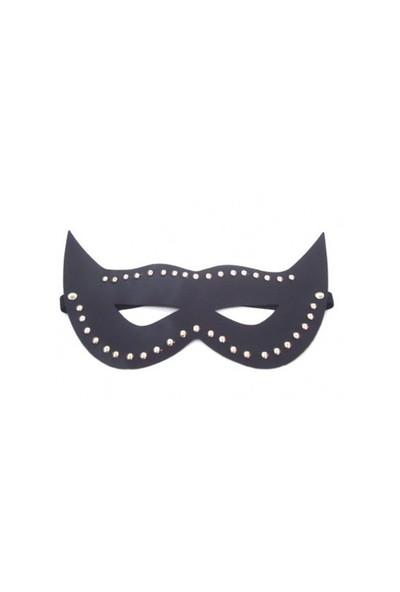 Boxessiyah Parlak Deri Fantezi Maske