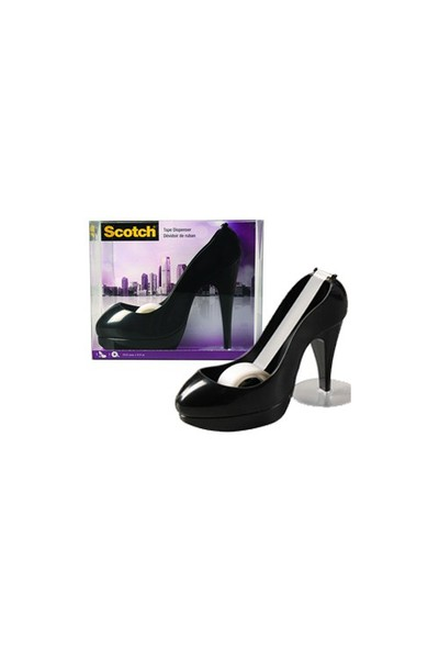 Scotch STILETTO-C Stiletto Ayakkabı Bant Kesici Siyah 19mm x 8.9m MagicTM Bant ile