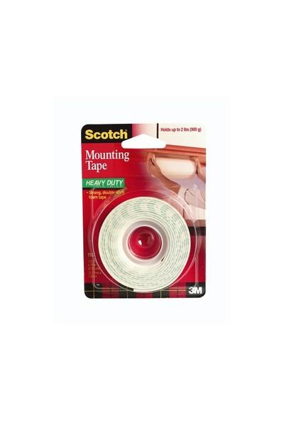 Scotch 110 Çift Taraflı Yapışkan Köpük Bant ağır malz.için rulo / 12.7mm x 1.9m