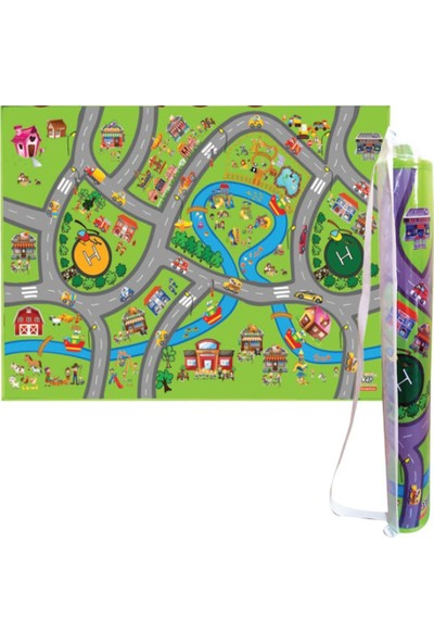 Akar Oyuncak Oyun Halısı City 150 x 100 cm