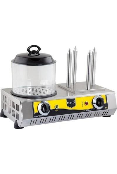 Remta Hot Dog Makinesi 4 Çubuk Hot Dog Sosis Pişirme Yapma