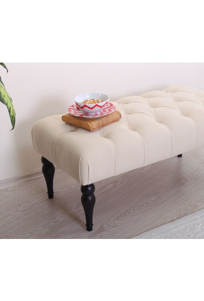 Lorence Home Missus Bench Puf(Krem)