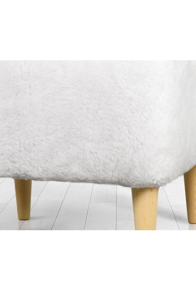 Lorence Home Sheep Puf - Beyaz Kare
