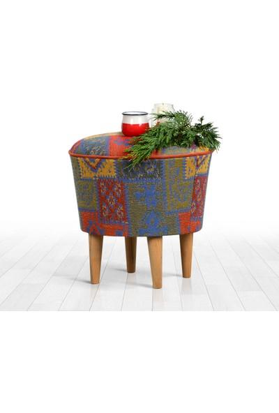 Lorence Home Rug Puf - Mavi
