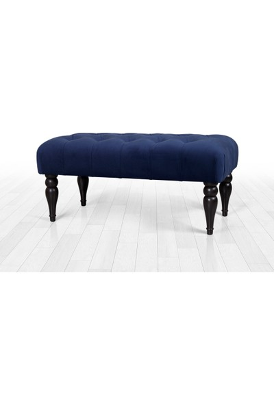 Lorence Home Missus Bench Puf - Gece Mavisi