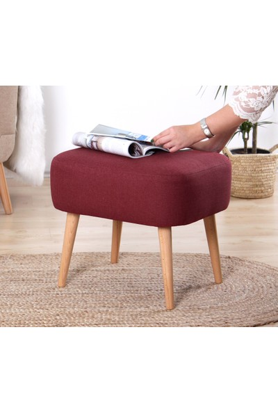 Lorence Home Parrot Puf - Bordo