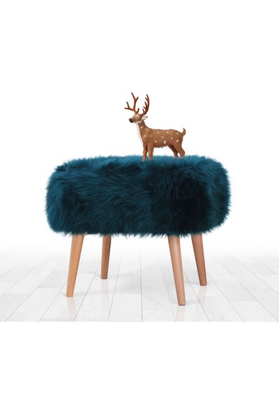 Lorence Home Deer Puf - Petrol Yeşili