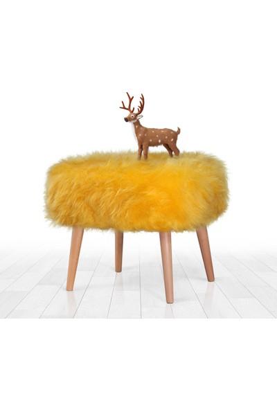 Lorence Home Deer Puf - Sarı