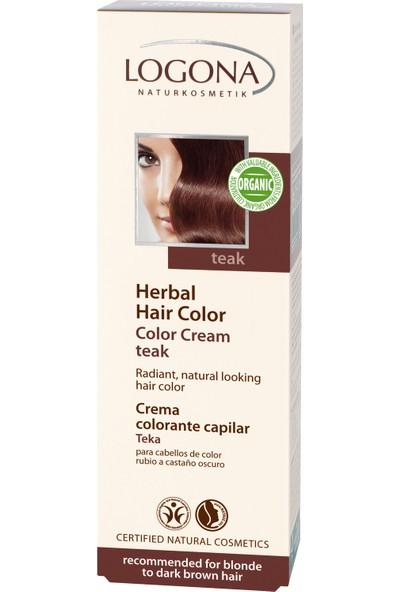 Logona Koyu Kahve Renkli Saçlar için Teak Ağacı Renkli Krem Boya