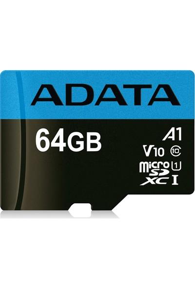Adata Premier 64GB 85MB/s MicroSDHC/SDXC UHS-I Class 10 V10 A1 Micro SD Kart AUSDX64GUICL10A1-R
