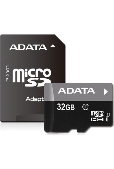Adata Premier 32GB 50MB/s microSDHC/SDXC UHS-I Class10 Micro SD Kart + Adaptör AUSDH32GUICL10-RA1