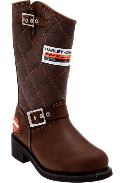 Harley Davidson Laconia Kahverengi Kadın Deri Çizme