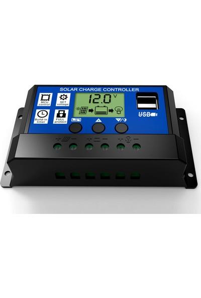 Mestech 10A - 12/24V Solar Şarj Kontrol Cihazı - Regülatörü