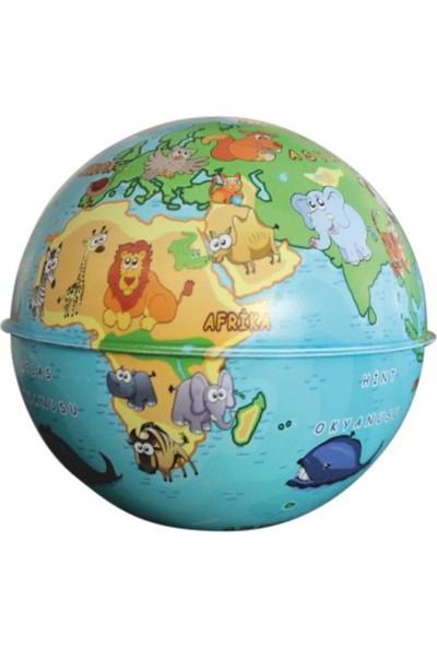 Gürbüz Dünya Kumbara Küre 10cm-Hayvanlı